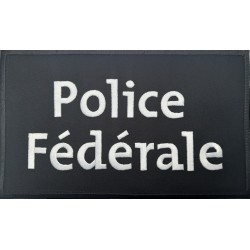 Ecusson dos brodé Police Fédérale noir-blanc