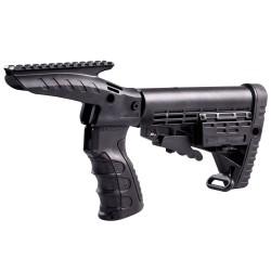 Poignée + crosse type M4 + rail supérieur picatinny Remington® 870