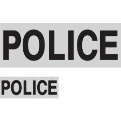 Dossard gris lettres noires Police 27 x 10cm