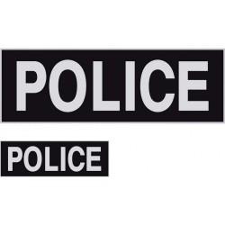 Bande-poitrine grise lettres noires Police