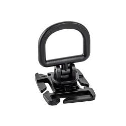 Point d'ancrage rotatif D-ring avec fixation pour passant M.O.L.L.E. noir