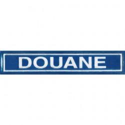 Bande patronymique rétroréfléchissante - Douane