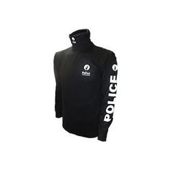 Sous Pull Noir ou Marine POLICE 100% Coton