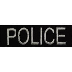 Bande patronyme Police brodé fond noir écriture blanche