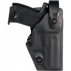 Holster vegatek top vkt804 pour droitier/gaucher glock 17/22/31/37 noir