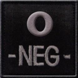 Groupe sanguin O négatif tissu noir