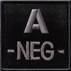 Groupe sanguin A négatif tissu noir