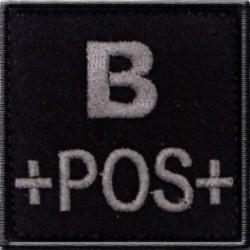 Groupe sanguin B positif tissu noir