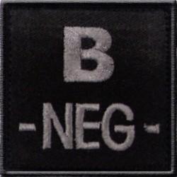 Groupe sanguin B négatif tissu noir