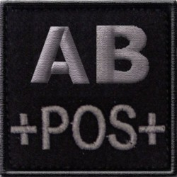 Groupe sanguin AB positif tissu noir