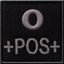 Groupe sanguin O positif tissu noir