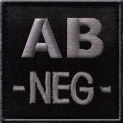 Groupe sanguin AB négatif tissu noir